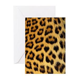 Leopard print greeting cards cafepress m4hsunfo