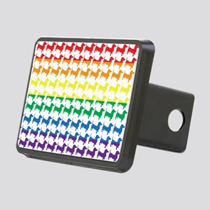 Doxie Gay Pride Flag Print Rectangular Hitch Cover