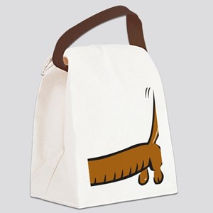 DOXIE BUTT PRINT Canvas Lunch Bag
