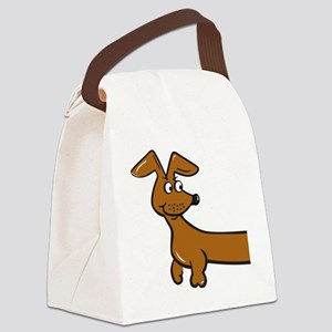Doxie Front Print Canvas Lunch Bag