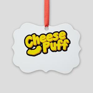 Cheese Puff Scientist Picture Ornament