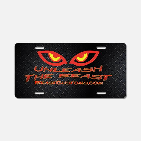 UnleashOval Aluminum License Plate