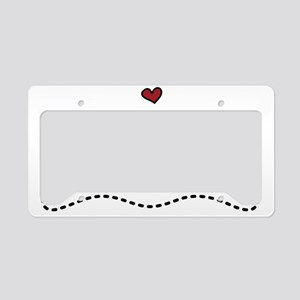 Valentine Chocolate License Plate Holder