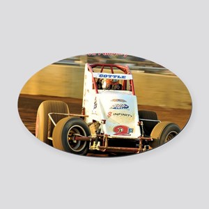 Cover Oval Car Magnet