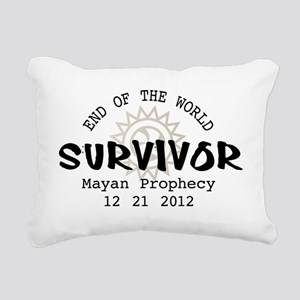 End of the World Survivo Rectangular Canvas Pillow
