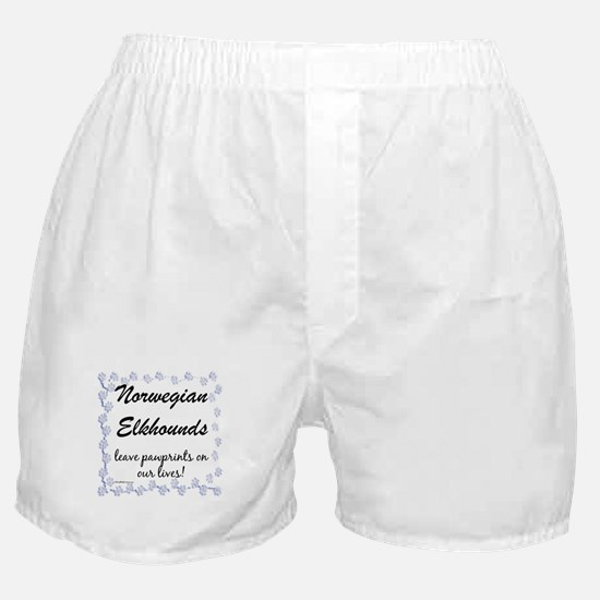 Elkhound Pawprint Boxer Shorts