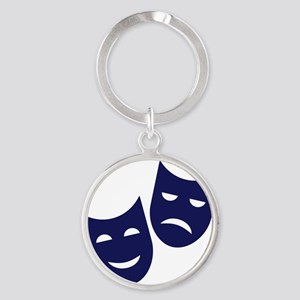 Theater masks Round Keychain