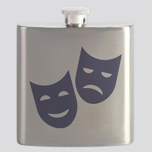Theater masks Flask