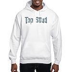 Top Stud Hooded Sweatshirt