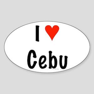 I love Cebu Oval Sticker