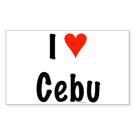 I love Cebu Rectangle Sticker