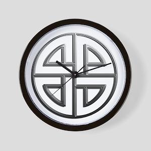 Fade To Black Shield Knot Wall Clock
