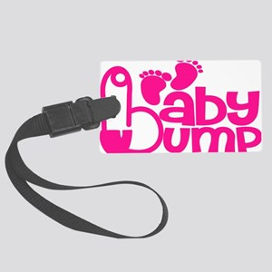 Hot Pink Baby Bump Large Luggage Tag