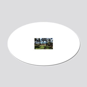 Maui Serenity (mini poster) 20x12 Oval Wall Decal