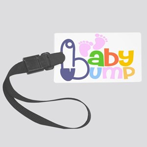 Colourful Baby Bumb Large Luggage Tag