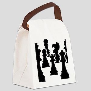 Chessmen Canvas Lunch Bag