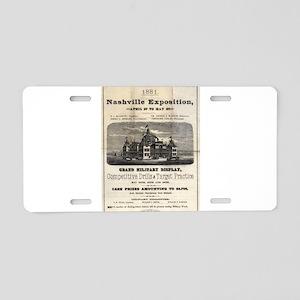 Nashville Exposition 1881 Aluminum License Plate