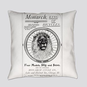 Monarch_bicycle_advertisement_1895 Everyday Pillow