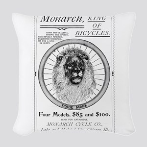 Monarch_bicycle_advertisement_1895 Woven Throw Pil