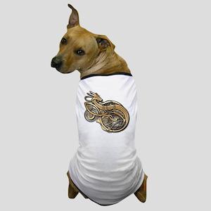 Gold Norse Dragon Dog T-Shirt