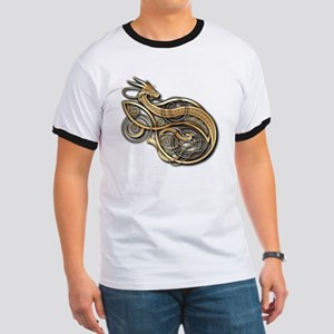 Gold Norse Dragon Ringer T