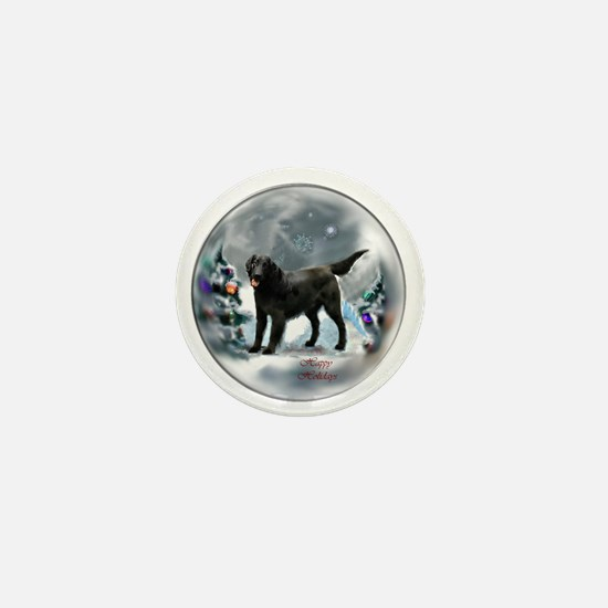 Flat-Coated Retriever Christmas Mini Button