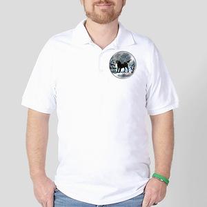 Flat-Coated Retriever Christmas Golf Shirt