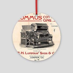 Lummus_Cotton_Gin_Advertisement 1896 Round Ornamen