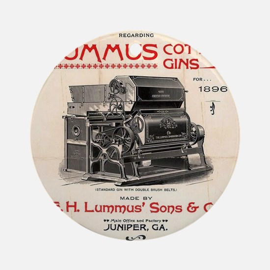 Lummus_Cotton_Gin_Advertisement 1896 Round Ornamen