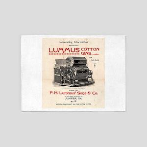 Lummus_Cotton_Gin_Advertisement 1896 5'x7'Area Rug