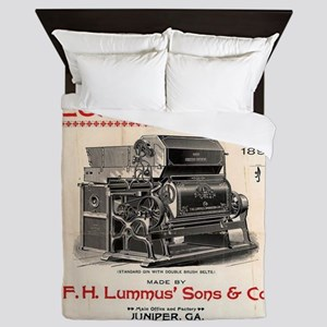 Lummus_Cotton_Gin_Advertisement 1896 Queen Duvet