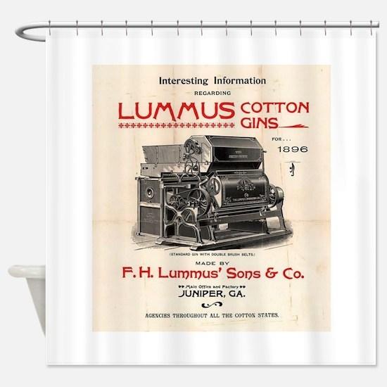 Lummus_Cotton_Gin_Advertisement 1896 Shower Curtai