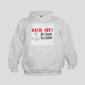 Back Off!-My Cousin is a Sai Kids Hoodie