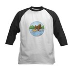 Buster's 'gone fishing' Kids Baseball Jersey