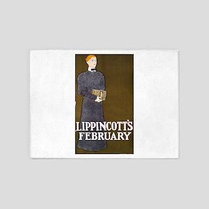 Lippincotts February - anon - c1897 - poster 5'x7'