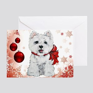 Westie Red Christmas Greeting Card