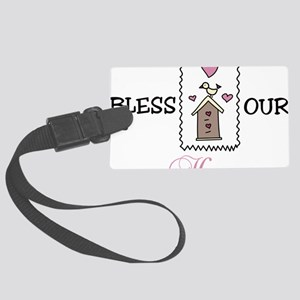 Bless Our Home Large Luggage Tag