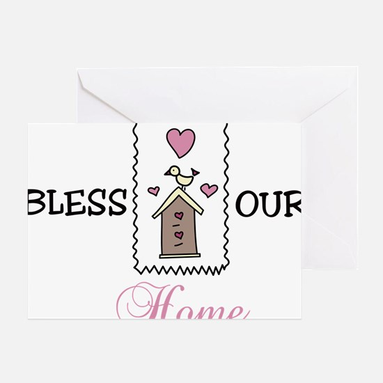Bless Our Home Greeting Card