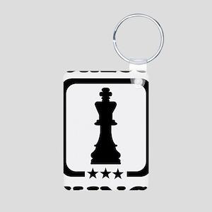 Chess king Aluminum Photo Keychain