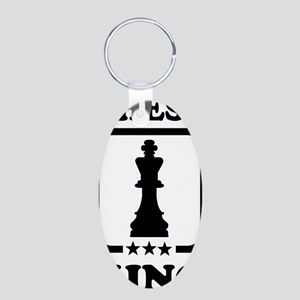 Chess king Aluminum Oval Keychain