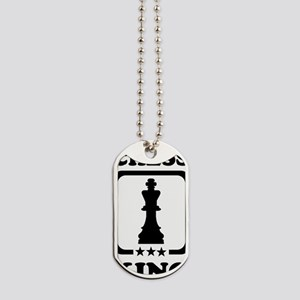 Chess king Dog Tags