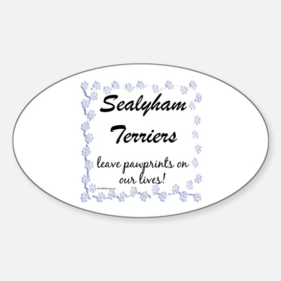 Sealy Pawprint Oval Decal