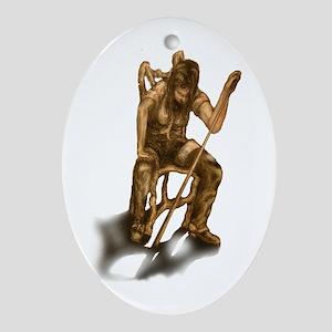 Billiard Thief Oval Ornament
