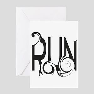 Unique RUN Greeting Cards