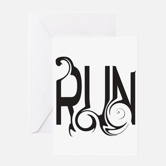 Unique RUN Greeting Cards