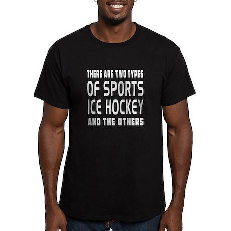 Ice Hockey Designs Men's Fitted T-Shirt (dark)