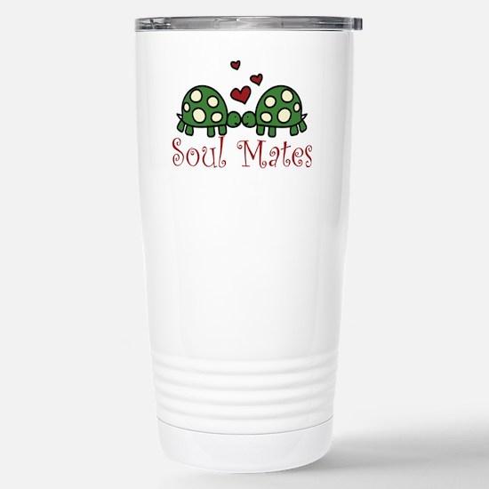 Soul Mates Stainless Steel Travel Mug