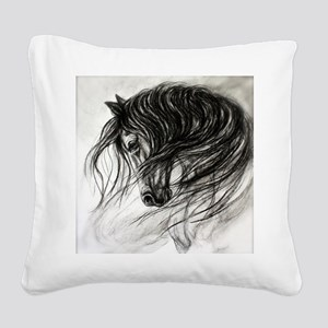 Mane Dance art Square Canvas Pillow