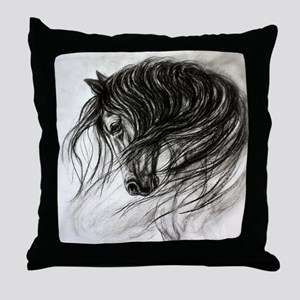 Mane Dance art Throw Pillow