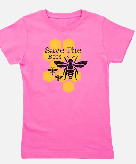 Honeycomb Save The Bees Girl's Tee